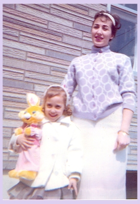 Donna & Mom with the Easter Bunny